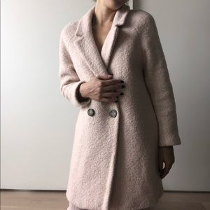 Zara Double Breasted Coat in Pink